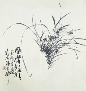 中国画—写意兰花