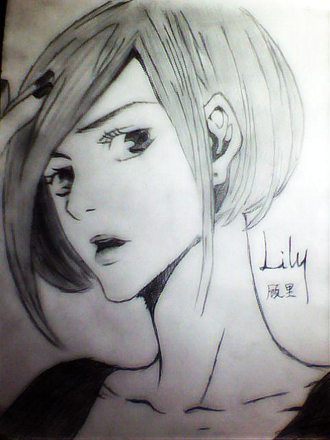顾里铅笔手绘漫画