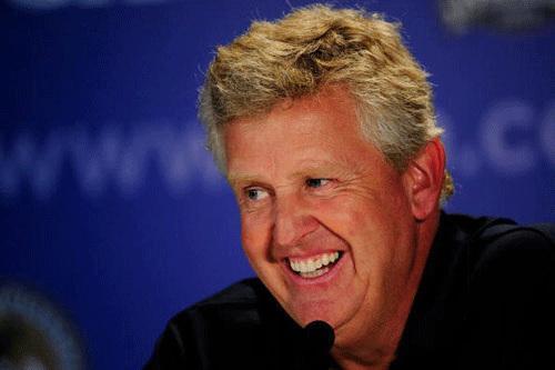 莱德杯欧洲队队长科林-蒙哥马利; 蒙蒂回答记者问; 莱尔变身大满贯