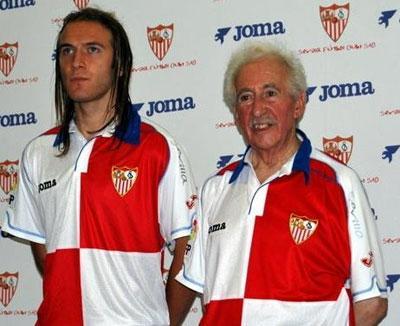 塞维利亚2011-12赛季主客场球衣图片