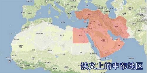 中东国家地图矢量图