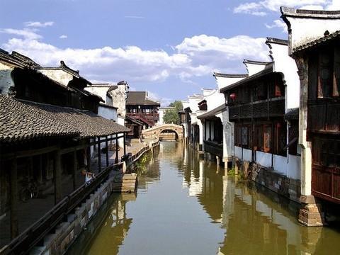 浙江乌镇手绘图片