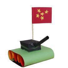 科技小制作参考图; 科技小发明(坦克的制作方法和材料) - 开心宝贝图片