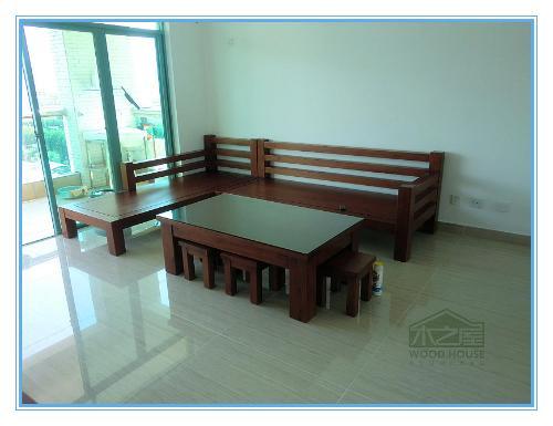 实木沙发,即指框架和图片