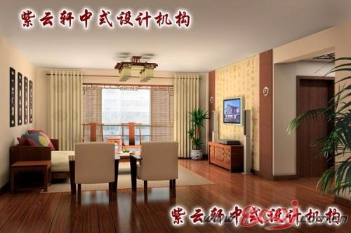 新中式飘窗手绘图