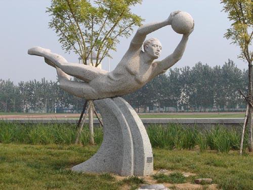 """内有展示奥运会起源及历届发展的以""""百年奥运""""为主题的浮雕墙,国际图片"""
