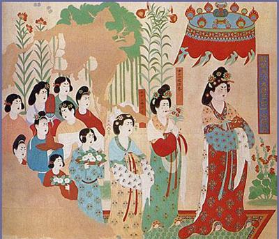 欧式仙女壁画贴图高清