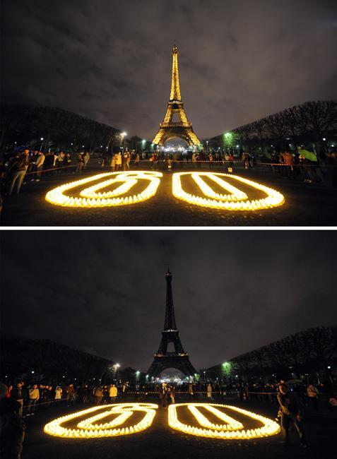 埃菲尔铁塔; 图文:巴黎埃菲尔铁塔参与地球一小