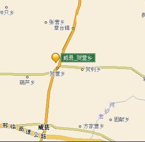威县贺营乡; 威县行政地图;