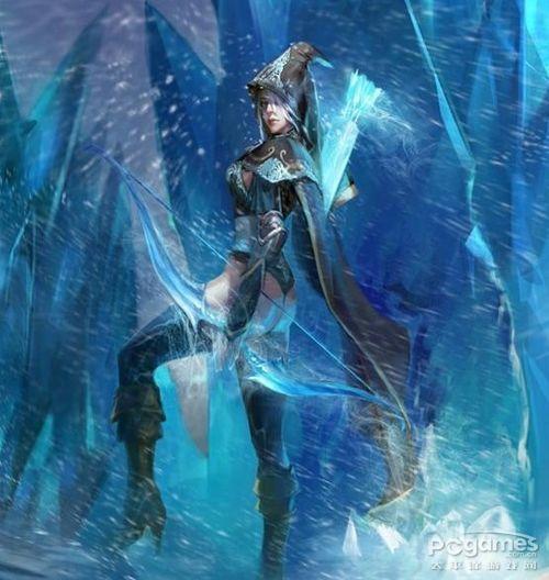 英雄联盟寒冰手绘图片