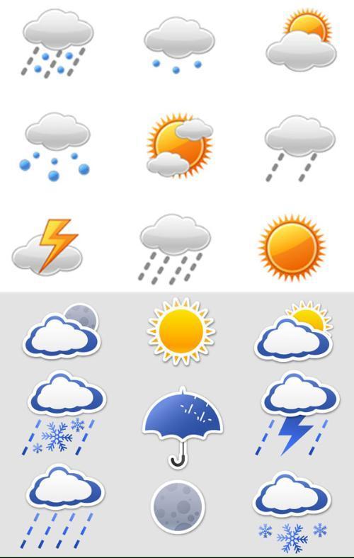 天气预报标识图片