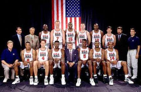 """梦之队\\""""是人们对1992年西班牙巴塞罗那奥运会以来 ..."""