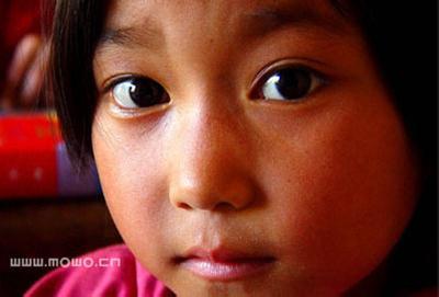 西藏山区儿童照片