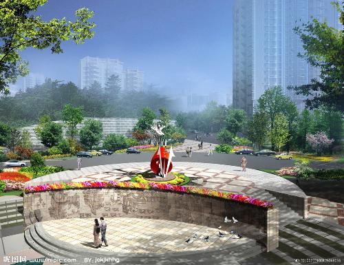 下沉式广场图片
