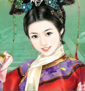 古装美女公主手绘