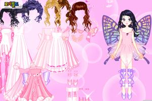 开始玩小游戏 蝴蝶仙女换装;
