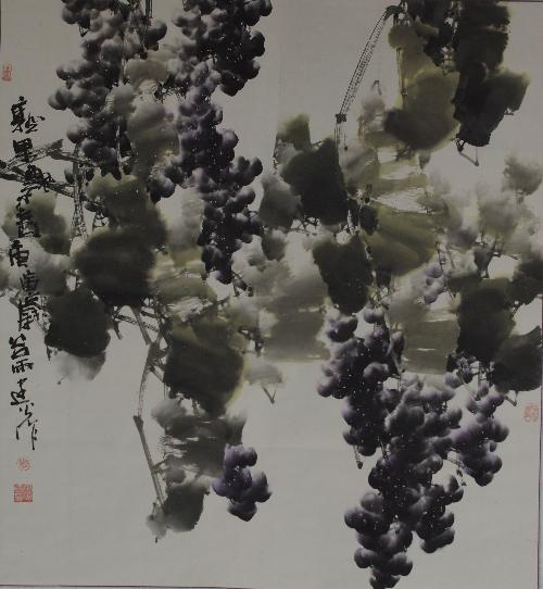 赖建火—当代花鸟画家以写意葡萄著