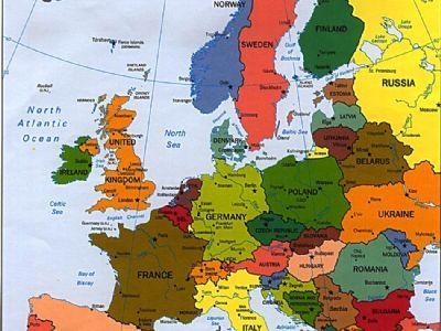 欧洲详细地图中文版
