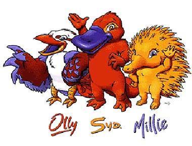 2000年悉尼奥运会吉祥物图片