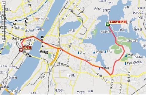 武汉大学校内手绘地图