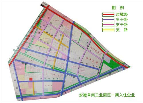 阜南县城市总体规划图