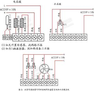 地暖温控器接线图