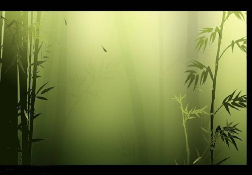 ppt模板; 漂亮典雅的竹林ppt动态模板-动态模板-素材库-素; ppt模板