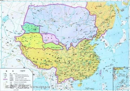 明朝初期和中期的中国地图(资料图)