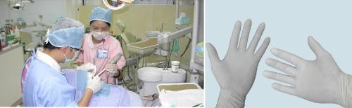 它是可将医用乳胶手套自动包装的机械设备