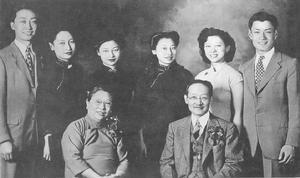1946年6月1日赵元任、杨步伟银婚   赵元任育有四个女儿: ...