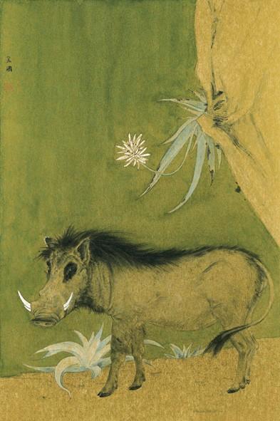 李金国工笔画《山寨主肖像》
