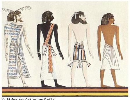 埃及服装手绘图片