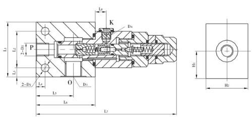 xyf系列卸荷溢流阀图形符号 xyf系列卸荷溢流阀技术参数 公称通径:10图片