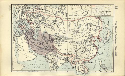 钦察汗国地图; 蒙古四大汗国地图