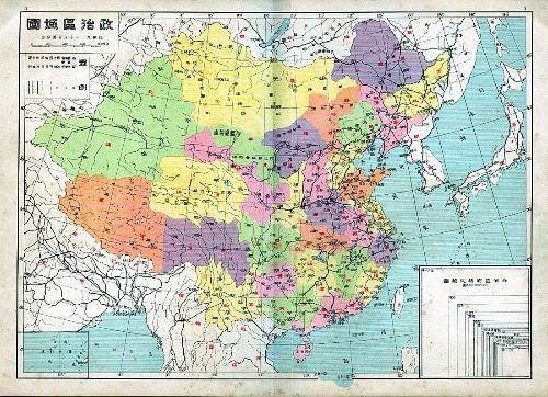 中国地图经纬度