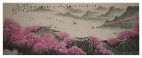 国画:江南春意浓图片