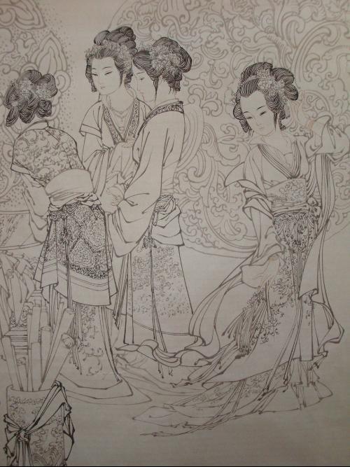 古代人物简笔画美女 妃子