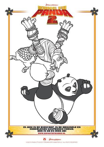熊猫海报手绘英文