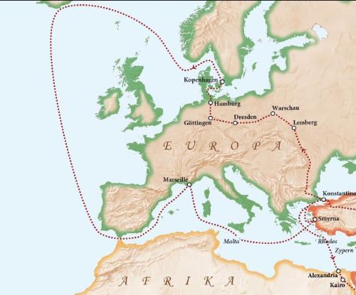 考察路线图1