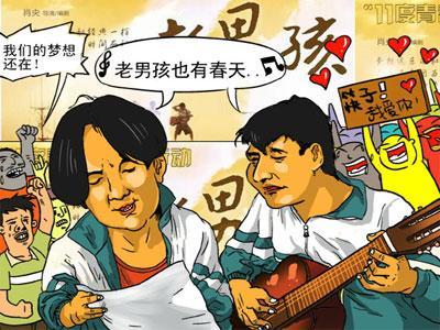 电影 老男孩 漫画图片