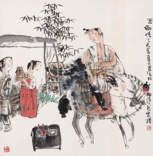 从他的早期连环画作品《三棵枣树》,《恩玛蒂奶奶》中就可略见一斑.