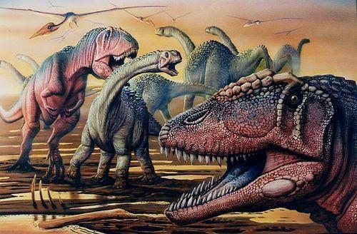 动物 恐龙 油画 500_328