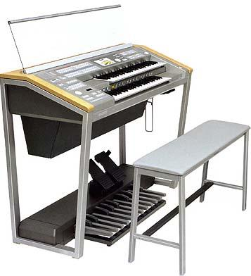 学名电子管风琴,在亚洲常称为双排键电子琴.图片
