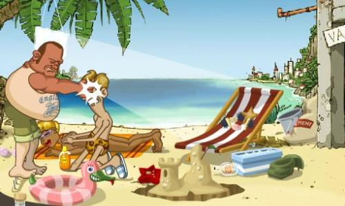 海滩泡美女 搜百科