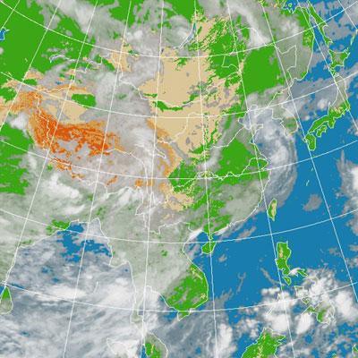 卫星云图天气预报一周图片