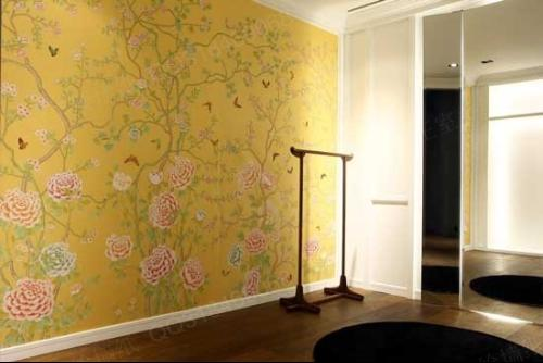 墙面室内手绘线描