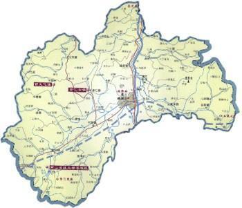 湖北汉江地图全图