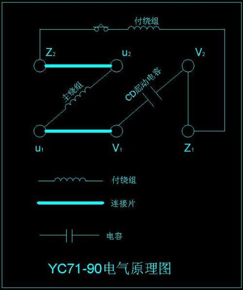 单相异步电机的接线方法