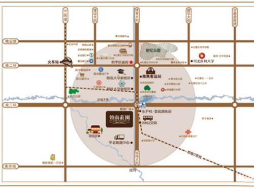岭南建筑手绘地图