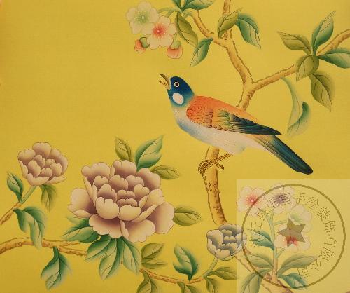 室内手绘壁画是一种全新概念的艺术壁画,采用丝绸,金箔,银箔高端奢华